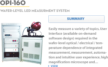 Wafer-Level LED Measurement System OPI-160